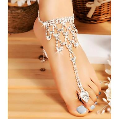 preiswerte Körperschmuck-Damen Körperschmuck 20 cm Fusskettchen / Zehenring Silber Irregulär Einfach / Modisch Aleación Modeschmuck Für Hochzeit / Ausgehen 9.0*9.0*2.0 cm Sommer