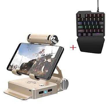 olcso Videojáték tartozékok-gamesir vezeték nélküli billentyűzet és egér átalakító stand okostelefonhoz, támogatja a kemény, bluetooth hordozható billentyűzet és egér átalakító stand metal 2 db egység