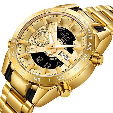 2687ba44b0e2f رخيصةأون ساعات رقمية-رجالي ساعة رياضية ساعة رقمية كوارتز ستانلس ستيل أسود    فضة