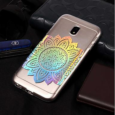 voordelige Galaxy J-serie hoesjes / covers-hoesje Voor Samsung Galaxy J7 (2017) / J7 (2016) / J7 IMD / Patroon Achterkant Bloem Zacht TPU