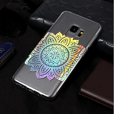 Недорогие Чехлы и кейсы для Galaxy S3-Кейс для Назначение SSamsung Galaxy S9 / S9 Plus / S8 Plus Покрытие / С узором Кейс на заднюю панель Мандала Мягкий ТПУ