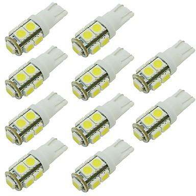 voordelige Autobinnenverlichting-2w led lamp t10 w5w 9 smd 5050 dc 12 - 24v wit warm wit voor rv lezen parkeerklaring lamp (10 stks)