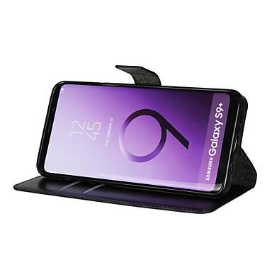 economico Galaxy S3 Mini Custodie / cover-Custodia Per Samsung Galaxy S9 / S9 Plus / S8 Plus A portafoglio / Porta-carte di credito / Con chiusura magnetica Integrale Tinta unita Resistente pelle sintetica