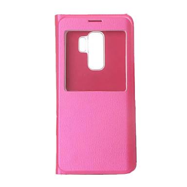voordelige Galaxy S-serie hoesjes / covers-hoesje Voor Samsung Galaxy S9 / S9 Plus met venster / Flip / Ultradun Volledig hoesje Effen Hard PU-nahka