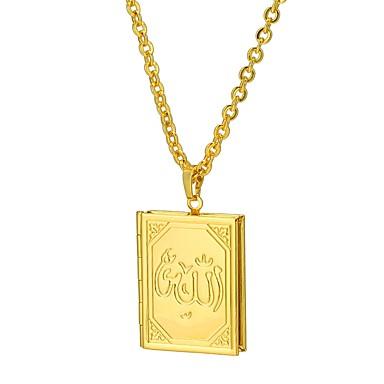 billige Mode Halskæde-Halskædevedhæng Medaljon Tro Damer Etnisk Guld Sølv 55 cm Halskæder Smykker Til Gave Daglig