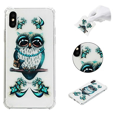 voordelige iPhone 5 hoesjes-hoesje Voor Apple iPhone XS / iPhone XR / iPhone XS Max Schokbestendig / Patroon Achterkant dier / Uil Zacht TPU