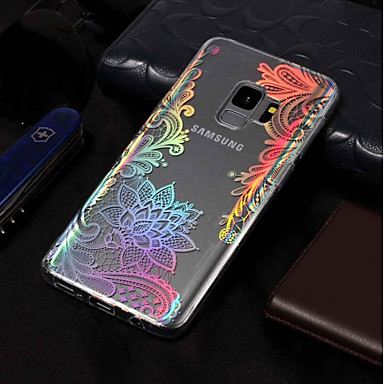 voordelige Galaxy S-serie hoesjes / covers-hoesje Voor Samsung Galaxy S9 / S9 Plus / S8 Plus Beplating / Patroon Achterkant Lace Printing Zacht TPU