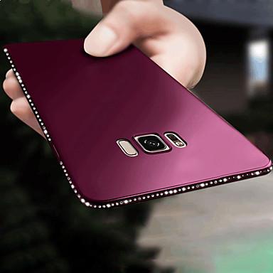 voordelige Galaxy S-serie hoesjes / covers-hoesje Voor Samsung Galaxy S9 / S9 Plus / S8 Plus Strass / Ultradun / Glitterglans Achterkant Effen Zacht TPU