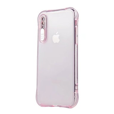 voordelige iPhone 6 Plus hoesjes-hoesje Voor Apple iPhone X / iPhone 8 Plus / iPhone 8 LED-knipperlicht / Transparant Achterkant Effen Zacht TPU
