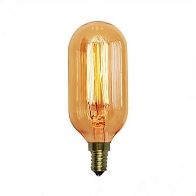 1pc 40 W E14 / E26 / E27 T45 Blanco Cálido 2300 k Retro / Decorativa Bombilla incandescente Vintage Edison 220-240 V / 110-120 V