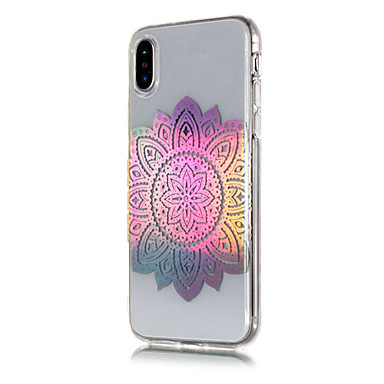 Morbido Fantasia Apple 06711511 iPhone Placcato Fiori Per iPhone iPhone Plus 8 X iPhone Custodia retro Transparente X TPU Per 8 8 Mandala disegno per Plus iPhone 4OzPqw5OZ