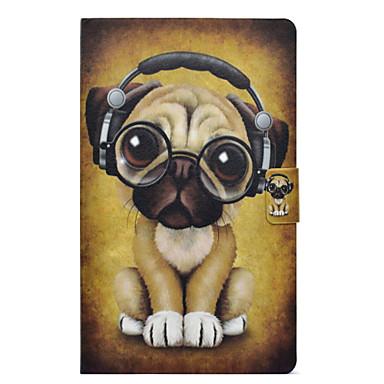 voordelige Samsung Tab-serie hoesjes / covers-hoesje Voor Samsung Galaxy Tab E 9.6 Kaarthouder / Schokbestendig / met standaard Volledig hoesje Hond Hard PU-nahka