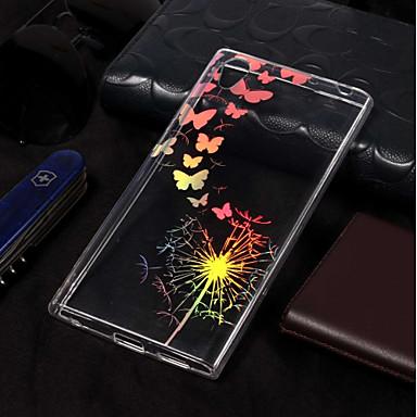 voordelige Hoesjes / covers voor Sony-hoesje Voor Sony Xperia L2 / Sony Xperia L1 Beplating / Patroon Achterkant Vlinder / Paardebloem Zacht TPU
