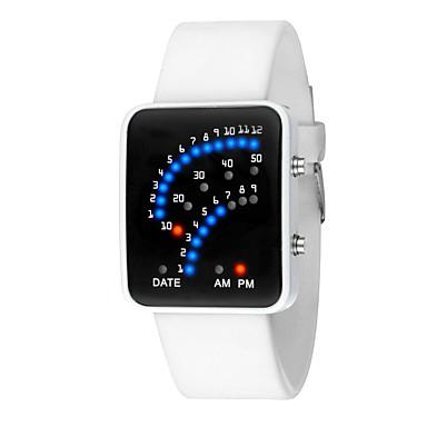 Χαμηλού Κόστους Ανδρικά ρολόγια-Γυναικεία Ψηφιακό ρολόι Ψηφιακή σιλικόνη Μαύρο / Λευκή Ημερολόγιο Χρονογράφος Φωτίζει Ψηφιακό Μοντέρνα Κομψό - Λευκό Μαύρο Ενας χρόνος Διάρκεια Ζωής Μπαταρίας / SSUO LR626