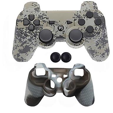 olcso PS3 tartozékok-Vezeték nélküli Játékvezérlő készletek Kompatibilitás Sony PS3 ,  Bluetooth Hordozható Játékvezérlő készletek Szilikon 1 pcs egység