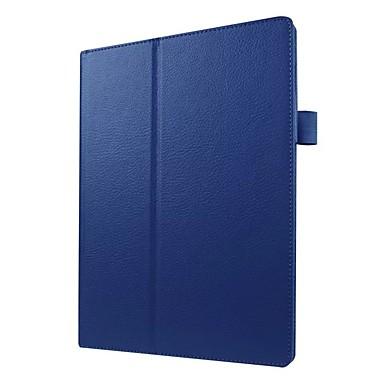غطاء من أجل Lenovo Lenovo Tab 3 10 business (TB3-X70F / N) مع حامل / نحيف جداً غطاء كامل للجسم لون سادة قاسي جلد PU