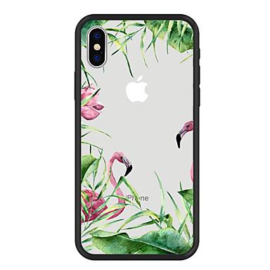 غطاء من أجل Apple iPhone X / iPhone 8 Plus / iPhone 8 نموذج غطاء خلفي النباتات / البشروس طائر مائي / كارتون قاسي أكريليك