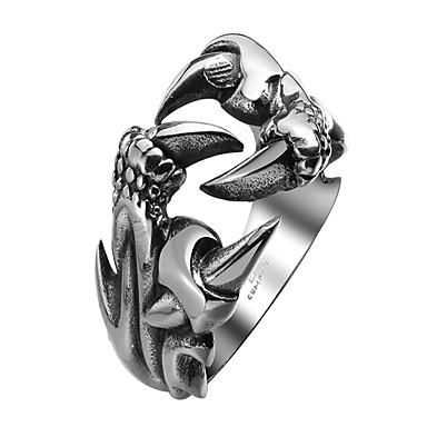 billige Damesmykker-Herre Band Ring Statement Ring vikle ring Rustfritt stål Drage metallic Vintage Gotisk Motering Smykker Svart Til Halloween Gate 8 / 9