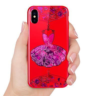 voordelige iPhone 6 Plus hoesjes-hoesje Voor Apple iPhone X / iPhone 8 Plus / iPhone 8 Reliëfopdruk / Patroon Achterkant Sexy dame Zacht TPU