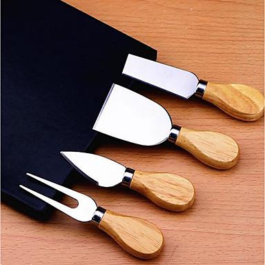 ستانلس ستيل قواطع ملعقة الصيدلي أدوات أدوات أدوات المطبخ لالجبن 4PCS