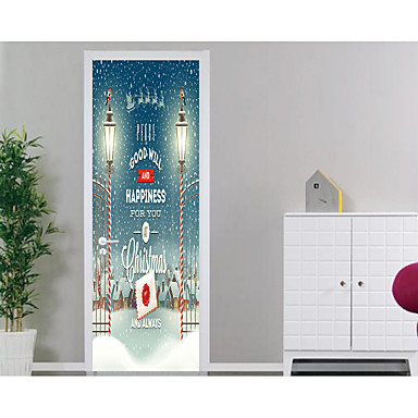 ملصقات الباب - لواصق كريستمس / عطلة غرفة الجلوس / غرفة النوم
