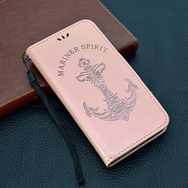 voordelige Galaxy J-serie hoesjes / covers-hoesje Voor Samsung Galaxy J7 Prime / J7 (2017) / J5 Prime Portemonnee / Kaarthouder / Flip Volledig hoesje Woord / tekst Hard PU-nahka