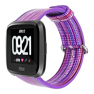 voordelige Smartwatch-accessoires-Horlogeband voor Fitbit Versa Fitbit Klassieke gesp Nylon Polsband