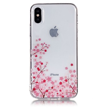 iPhone 8 iPhone IMD Apple Fantasia X X iPhone Fiore Plus iPhone TPU Transparente iPhone Custodia 8 8 Morbido Per Per 06769329 decorativo retro disegno per wXxnHqF5T