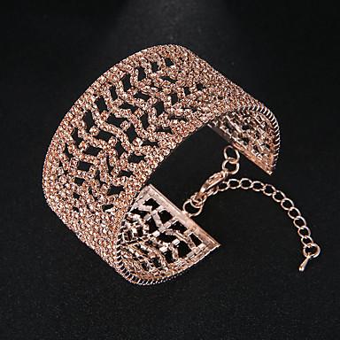 نسائي أساور أساور اصفاد أوروبي موضة سبيكة مجوهرات سوار ذهبي من أجل زفاف مناسب للبس اليومي