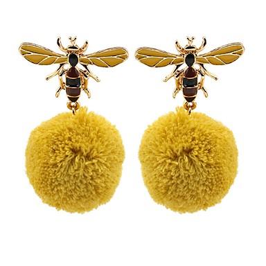 نسائي أقراط قطرة 3D نحلة سيدات أنيق كلاسيكي الأقراط مجوهرات ذهبي من أجل مناسب للبس اليومي مناسب للخارج 1 زوج