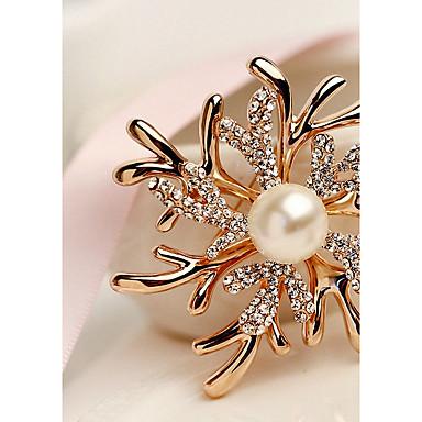 نسائي دبابيس موضة أنيق بروش مجوهرات الذهب-وردي من أجل زفاف مناسب للحفلات