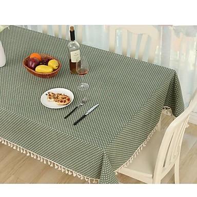 معاصر كلاسيكي قطن مربع قماش الطاولة منقوشة الجدول ديكورات 1 pcs