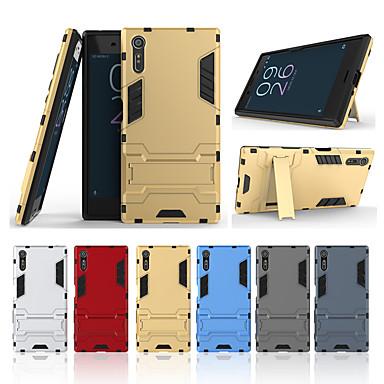 غطاء من أجل Sony Sony Xperia XZ مع حامل غطاء خلفي لون سادة قاسي الكمبيوتر الشخصي