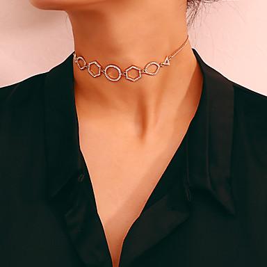 billige Mode Halskæde-Dame Enlig Snor Halskæde Damer Simple Trendy Sød Sødt Guld Sølv 20+10 cm Halskæder Smykker 4stk 1pc Til Daglig Gade