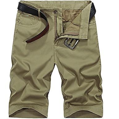 tanie Męskie spodnie i szorty-Męskie Podstawowy Szorty Spodnie - Geometric Shape Zieleń wojskowa