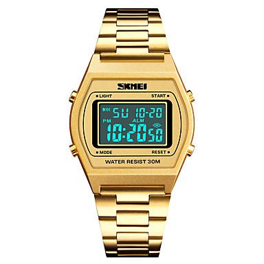 Χαμηλού Κόστους Ανδρικά ρολόγια-SKMEI Ανδρικά Αθλητικό Ρολόι Ψηφιακό ρολόι Ιαπωνικά Ψηφιακό Ανοξείδωτο Ατσάλι Μαύρο / Μπλε / Ασημί 30 m Ανθεκτικό στο Νερό Συναγερμός Ημερολόγιο Ψηφιακό Καθημερινό Μοντέρνα -  / Ενας χρόνος