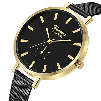 Geneva Dámské Hodinky k šatům Náramkové hodinky Křemenný Černá   Růžové  zlato Nový design Hodinky na ac55111255c