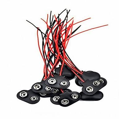 20 Stücke 9 Volt Batterie Clip Stecker Batterie Snap Draht Stecker