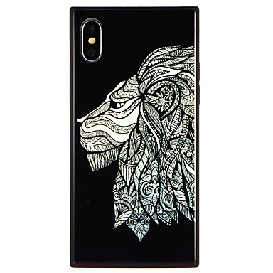 X Vetro 8 Per iPhone Leone Custodia retro Resistente Apple Plus iPhone 8 Fantasia temperato per iPhone 06756693 X iPhone disegno Per qYtawYv