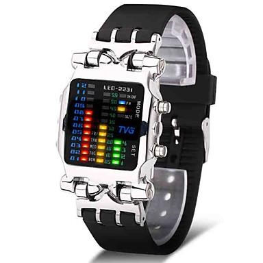 Недорогие Часы на металлическом ремешке-Муж. Спортивные часы Армейские часы электронные часы Японский Цифровой Нержавеющая сталь Черный 30 m Творчество Новый дизайн Светящийся Цифровой Роскошь Кольцеобразный - Черный Серебряный / Один год