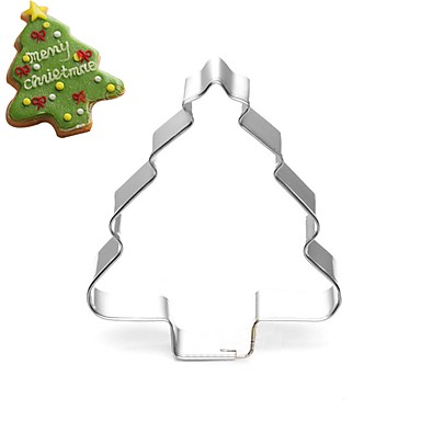 Xmas Tree Pine Tree Cookies Mold Stainless Steel Cake Mold 6813357