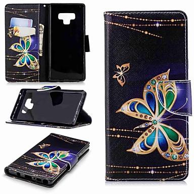 voordelige Galaxy Note-serie hoesjes / covers-hoesje Voor Samsung Galaxy Note 9 / Note 8 Portemonnee / Kaarthouder / met standaard Volledig hoesje Vlinder Hard PU-nahka