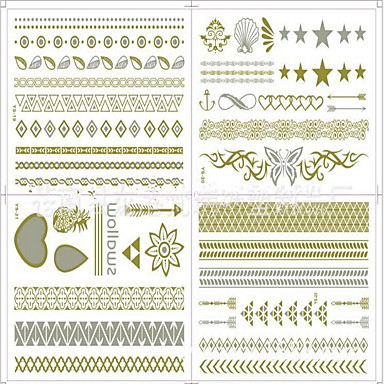 #(8) Μοτίβο Σειρά Κοσμημάτων Αυτοκόλλητα Τατουάζ
