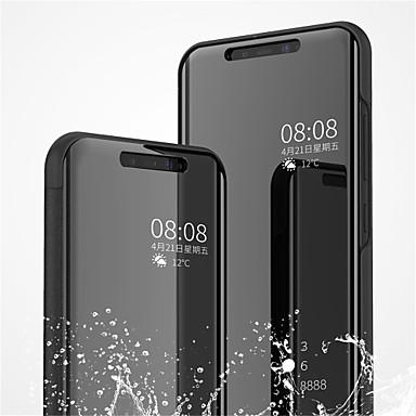غطاء من أجل Xiaomi Xiaomi Mi 8 / Xiaomi Mi 8 SE مع حامل / تصفيح / مرآة غطاء كامل للجسم لون سادة قاسي جلد PU
