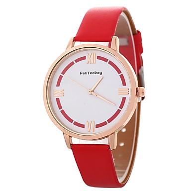 Xu™ نسائي ساعة المعصم كوارتز جلد اصطناعي أسود / الأبيض / أزرق إبداعي ساعة كاجوال مماثل سيدات كاجوال موضة - أحمر أزرق زهري سنة واحدة عمر البطارية