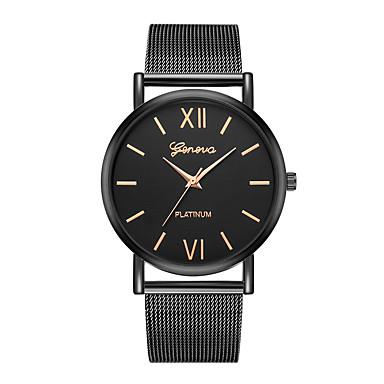 Geneva نسائي ساعة المعصم كوارتز أسود تصميم جديد ساعة كاجوال كوول مماثل سيدات كاجوال موضة - فضي / أسود أسود / ذهبي روزي سنة واحدة عمر البطارية