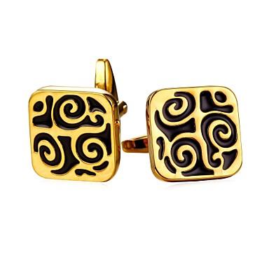 أزرار أكمام رسمي عتيق بروش مجوهرات فضي ذهبي من أجل هدية مناسب للبس اليومي