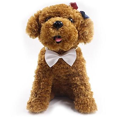 كلاب قطط ربطة عنق ربطة العنق عقدة الديكور لون سادة ببيونة قماش أحمر أزرق زهري