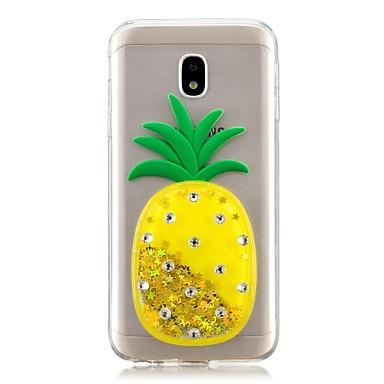 voordelige Galaxy J-serie hoesjes / covers-hoesje Voor Samsung Galaxy J7 Prime / J7 (2017) / J7 (2016) Stromende vloeistof Achterkant Fruit Zacht TPU