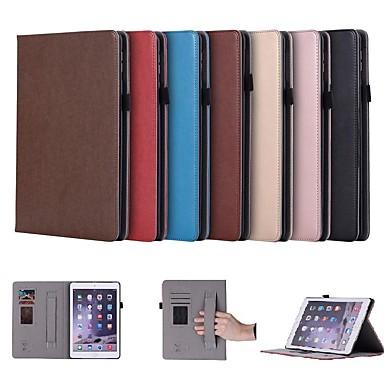 غطاء من أجل Apple ايباد ميني 5 / iPad New Air (2019) / iPad Air حامل البطاقات / مع حامل / مغناطيس غطاء كامل للجسم لون سادة قاسي جلد PU / iPad (2017)